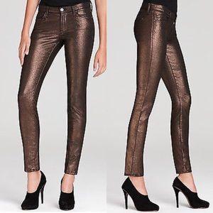 7 For All Mankind Liquid Metallic skinny jeans